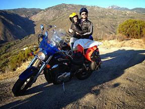Paul & Linda with Motorcycle